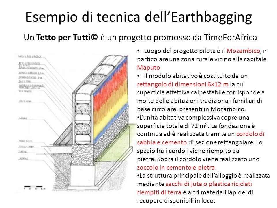 Esempio di tecnica dell'Earthbagging Un Tetto per Tutti© è un progetto promosso da TimeForAfrica