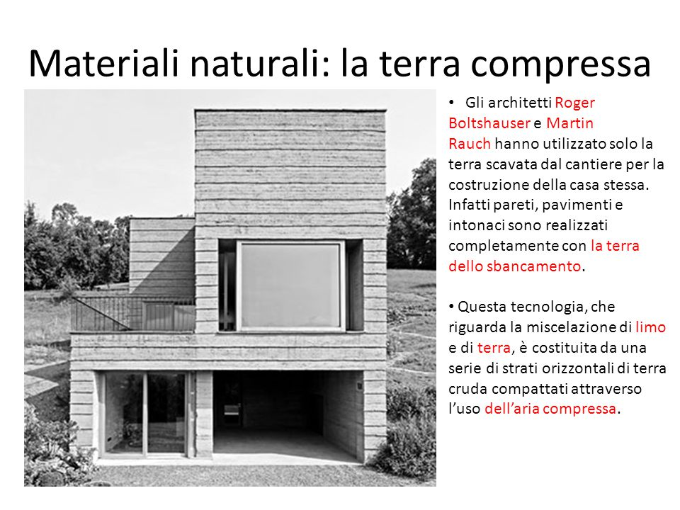 Materiali naturali: la terra compressa