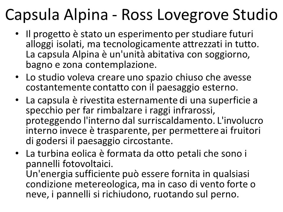 Capsula Alpina - Ross Lovegrove Studio