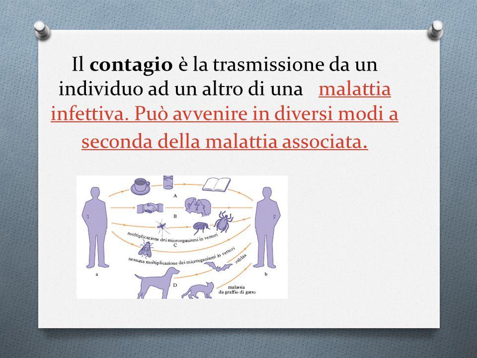 Il contagio è la trasmissione da un individuo ad un altro di una malattia infettiva.