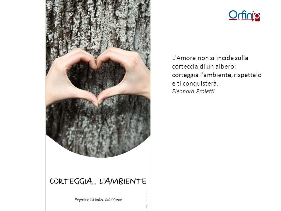 L Amore non si incide sulla corteccia di un albero: corteggia l ambiente, rispettalo e ti conquisterà.
