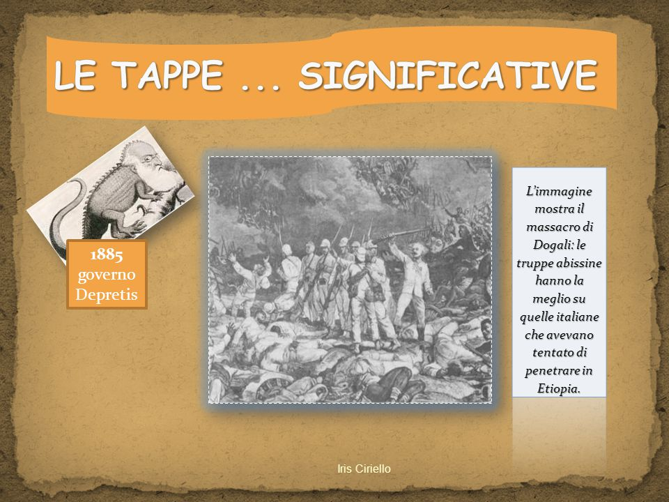 LE TAPPE ... SIGNIFICATIVE
