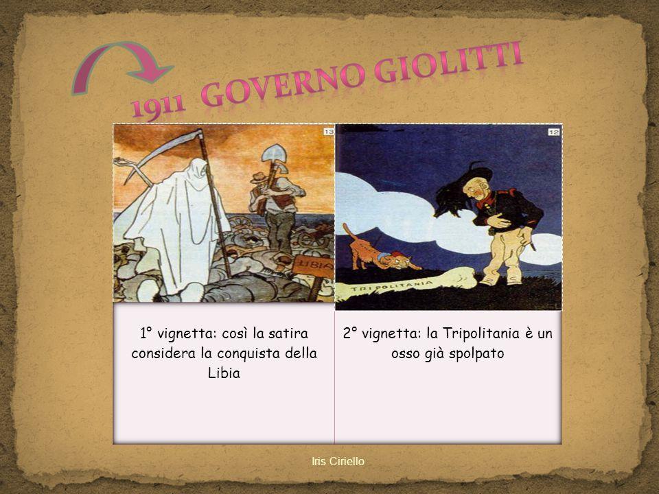1911 governo Giolitti 1° vignetta: così la satira
