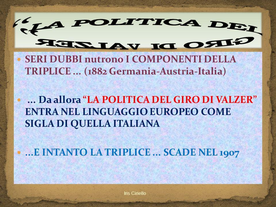 LA POLITICA DEL GIRO DI VALZER