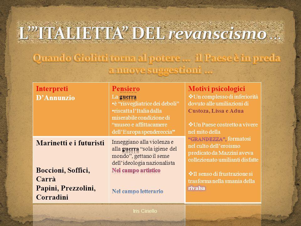 L' ITALIETTA DEL revanscismo ...