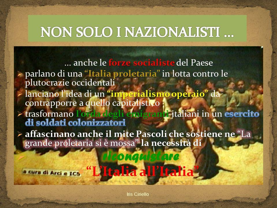 NON SOLO I NAZIONALISTI ...