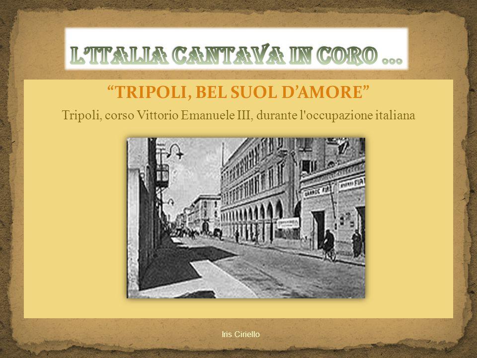 L'ITALIA CANTAVA IN CORO ...
