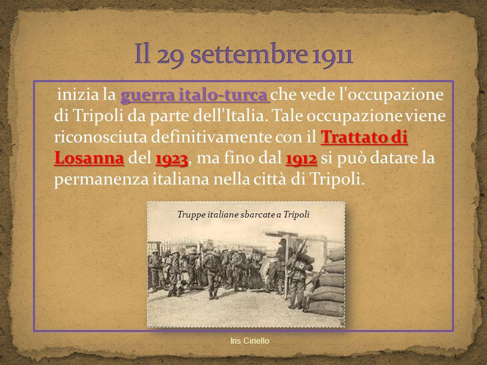 Truppe italiane sbarcate a Tripoli