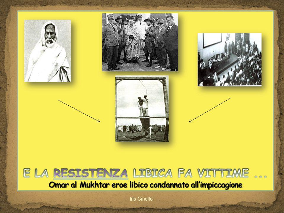 E LA RESISTENZA LIBICA FA VITTIME