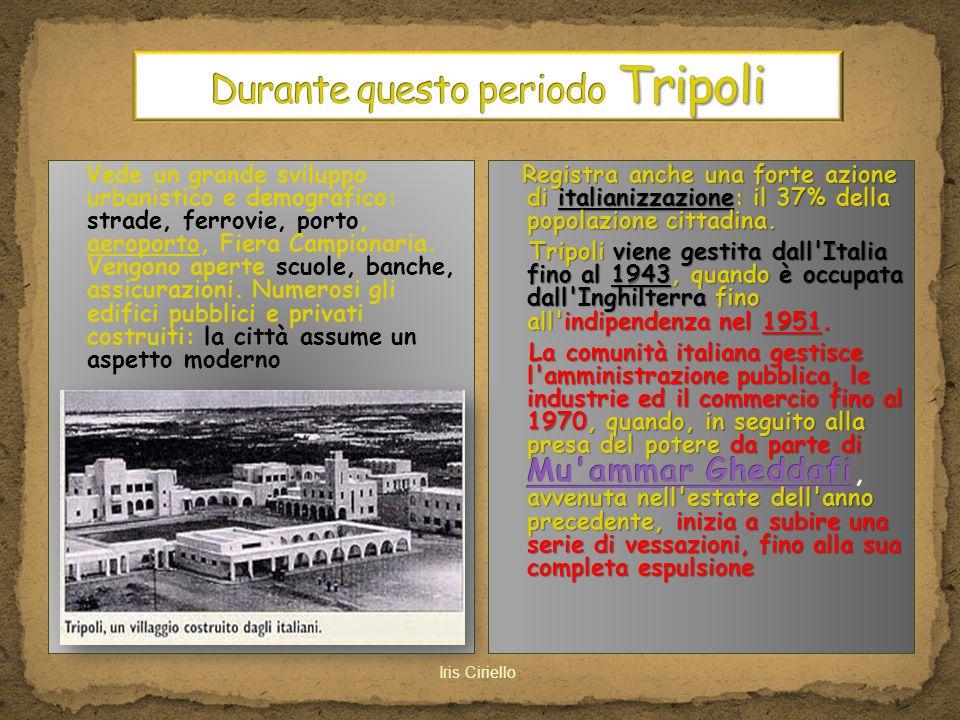 Durante questo periodo Tripoli