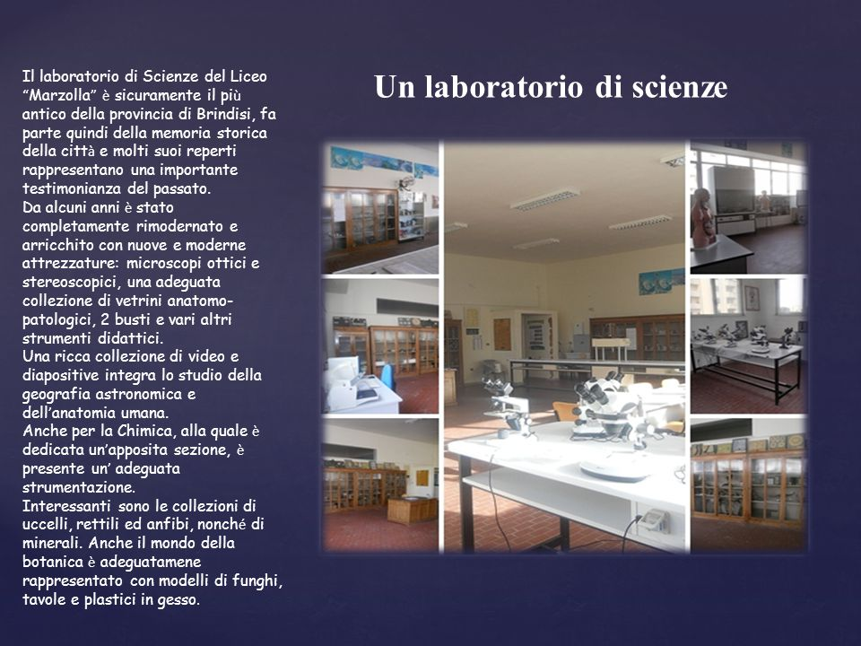 Un laboratorio di scienze