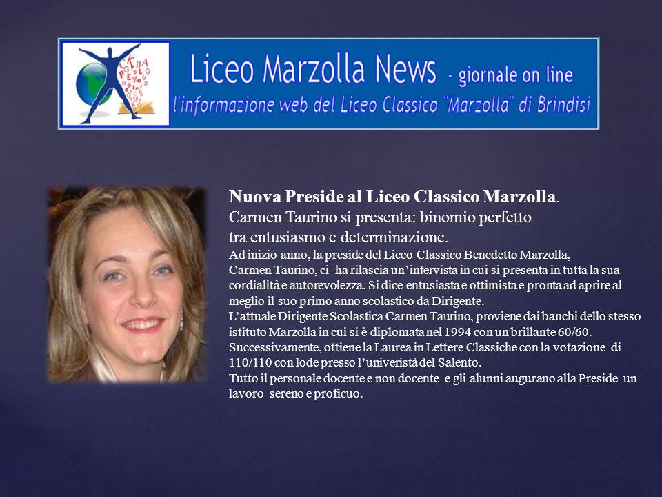 Nuova Preside al Liceo Classico Marzolla.