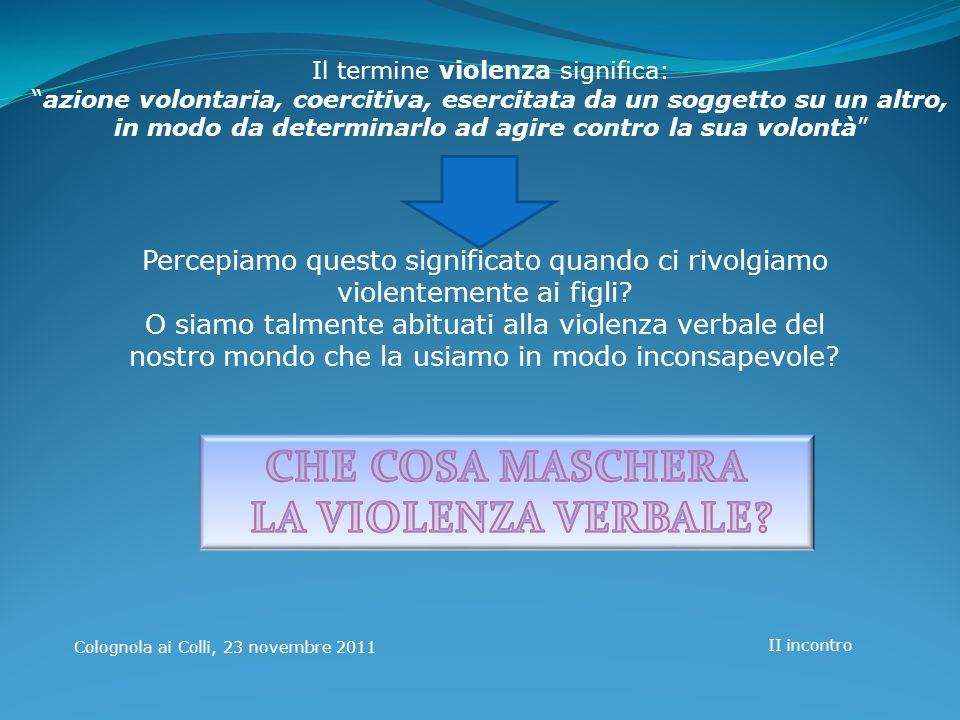 Il termine violenza significa: