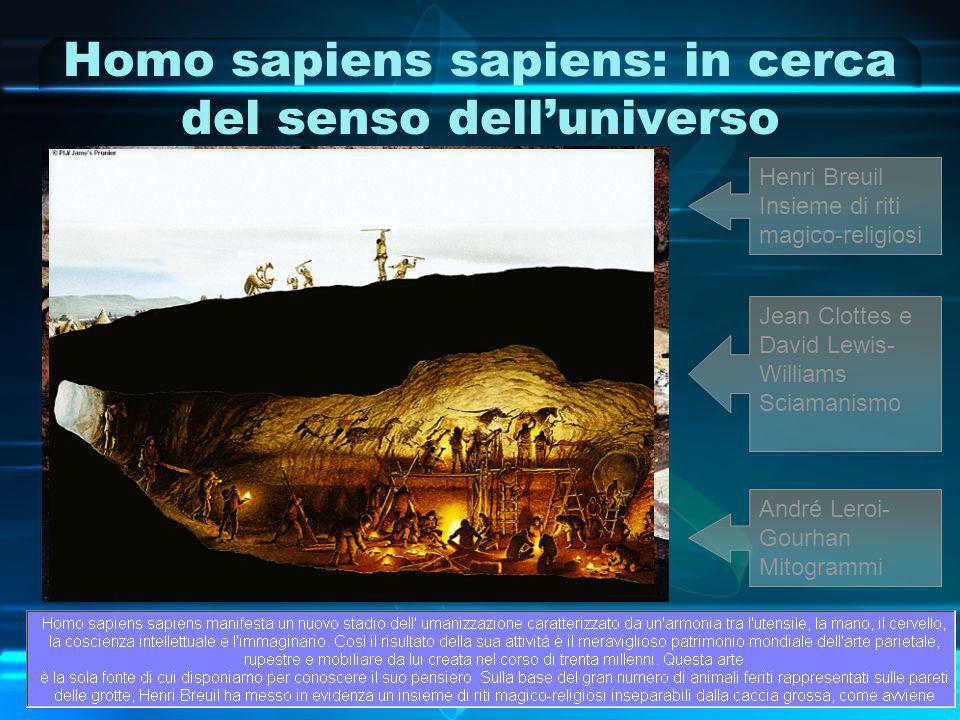 Homo sapiens sapiens: in cerca del senso dell'universo