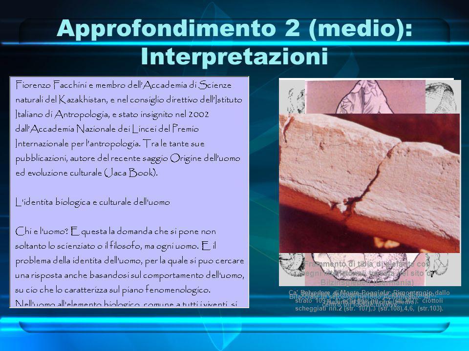Approfondimento 2 (medio): Interpretazioni