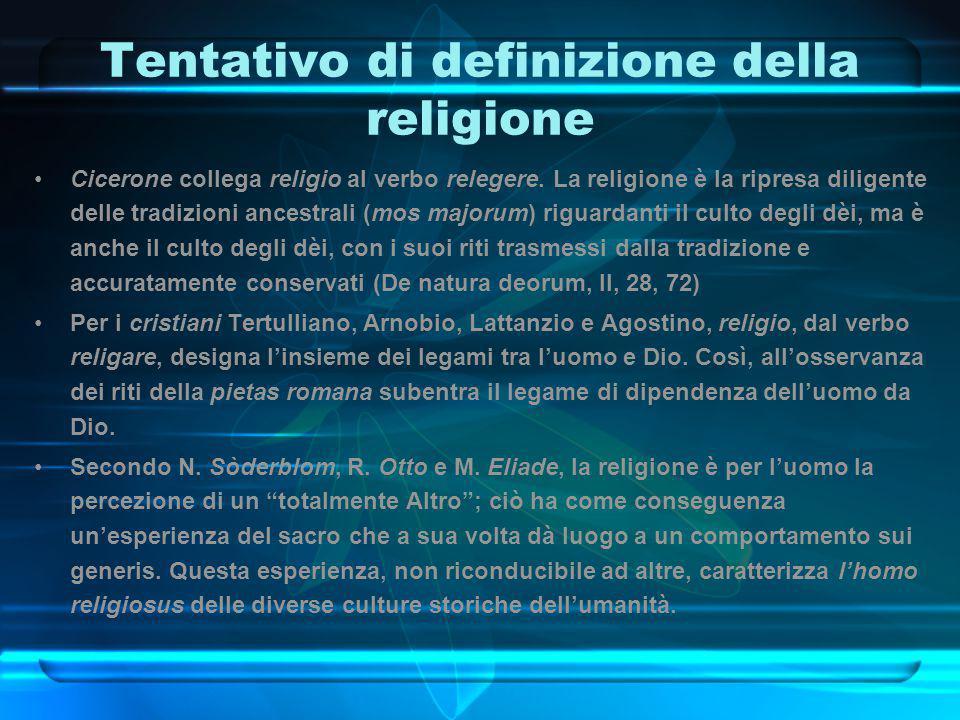 Tentativo di definizione della religione