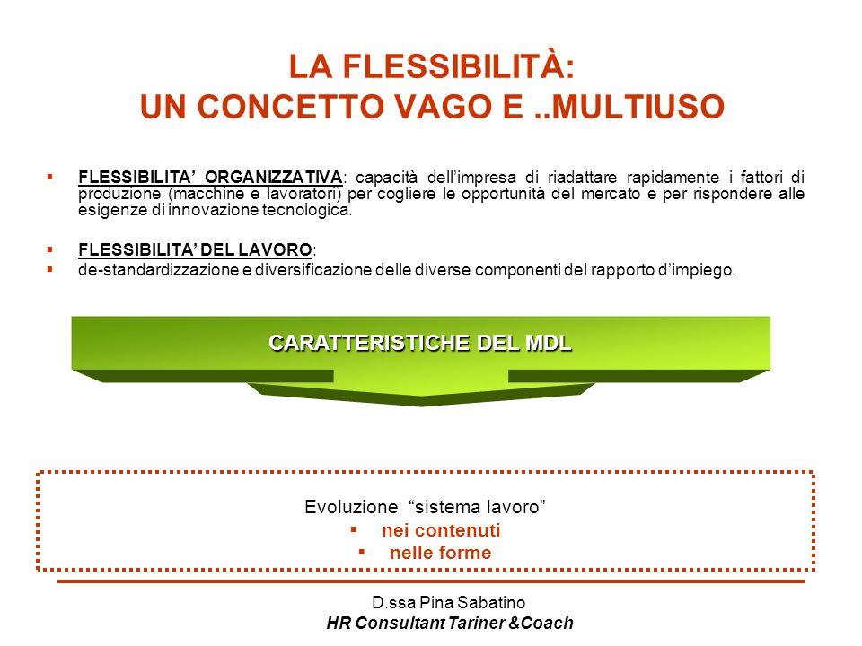 LA FLESSIBILITÀ: UN CONCETTO VAGO E ..MULTIUSO