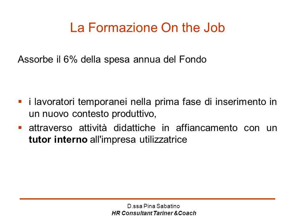 La Formazione On the Job