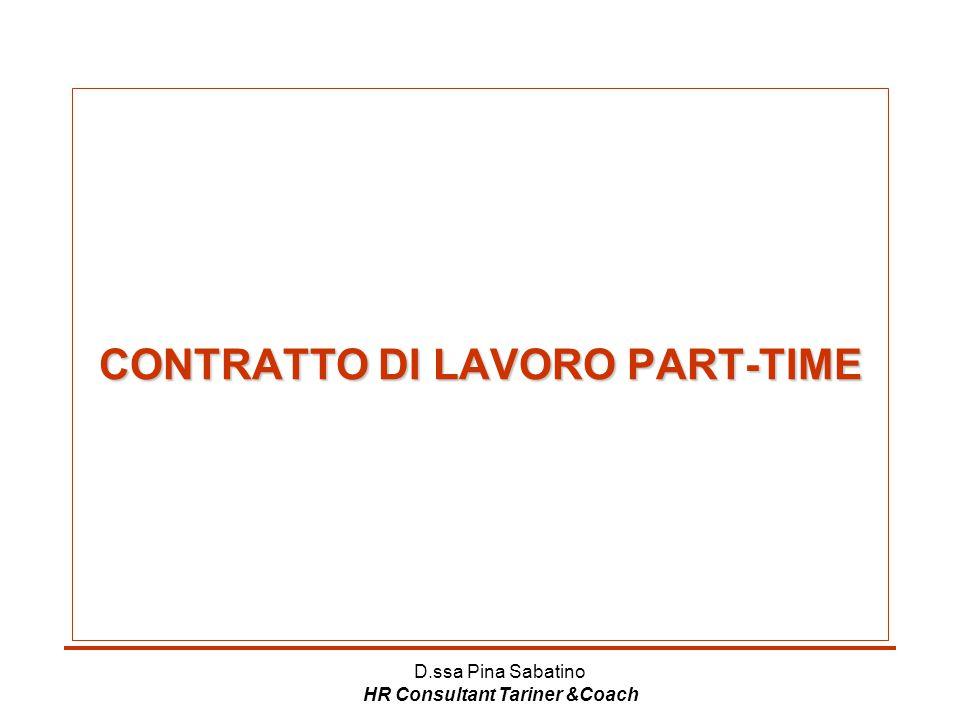CONTRATTO DI LAVORO PART-TIME