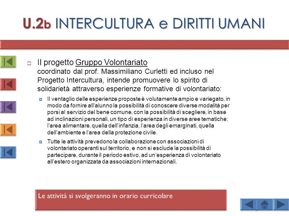 U.2b INTERCULTURA e DIRITTI UMANI