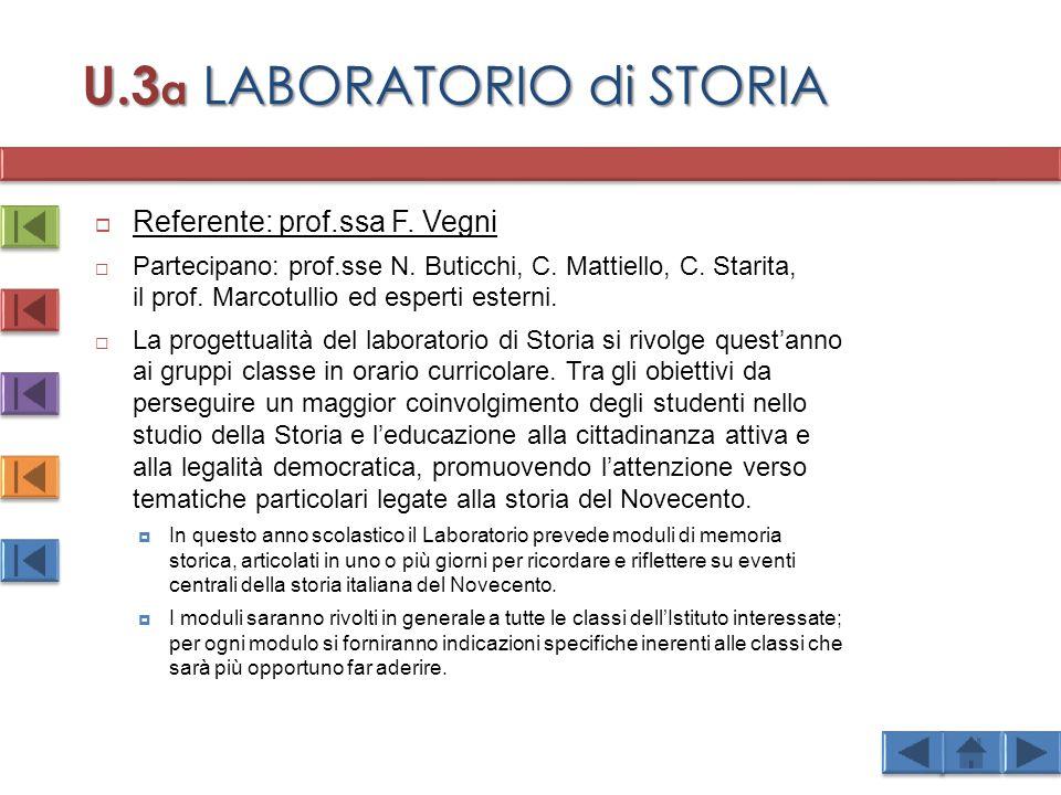 U.3a LABORATORIO di STORIA