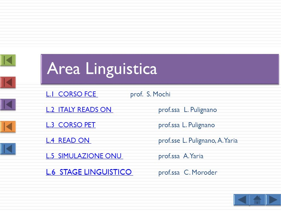 Area Linguistica L.6 STAGE LINGUISTICO prof.ssa C. Moroder