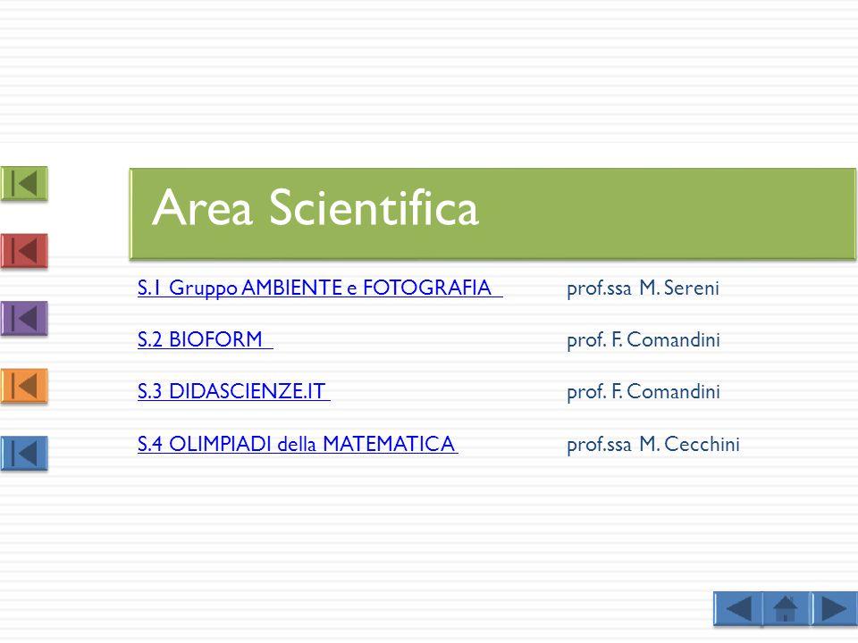 Area Scientifica S.1 Gruppo AMBIENTE e FOTOGRAFIA prof.ssa M. Sereni