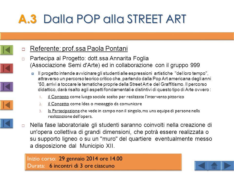 A.3 Dalla POP alla STREET ART