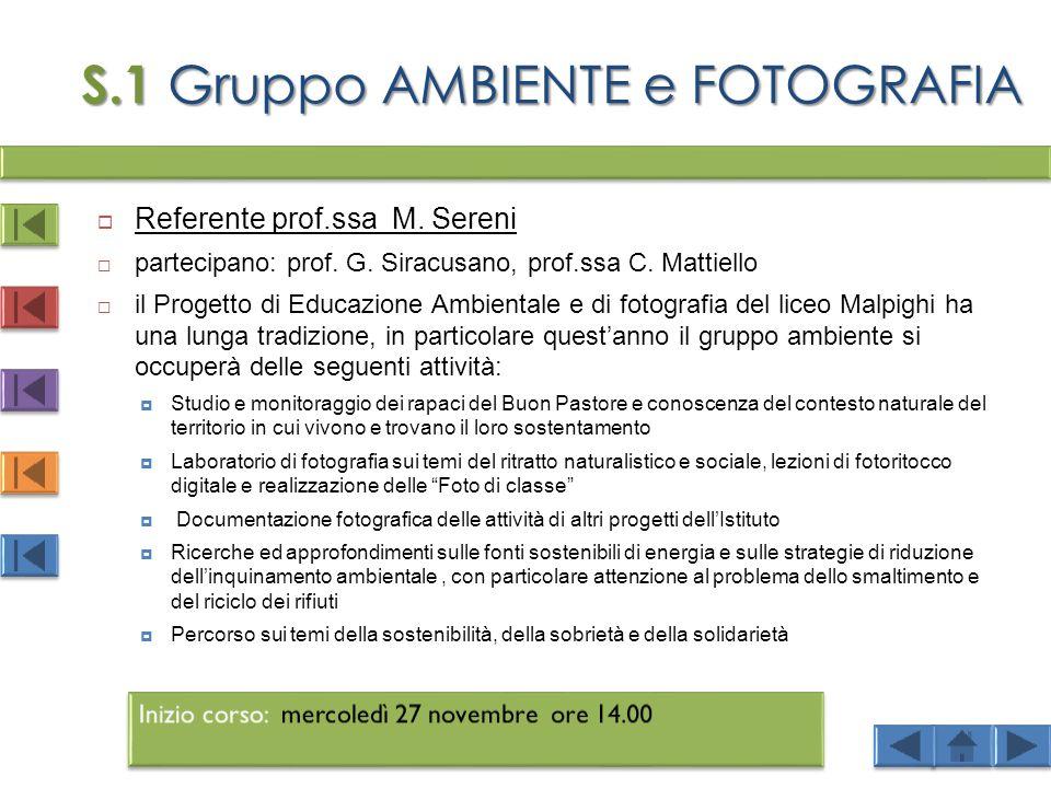S.1 Gruppo AMBIENTE e FOTOGRAFIA