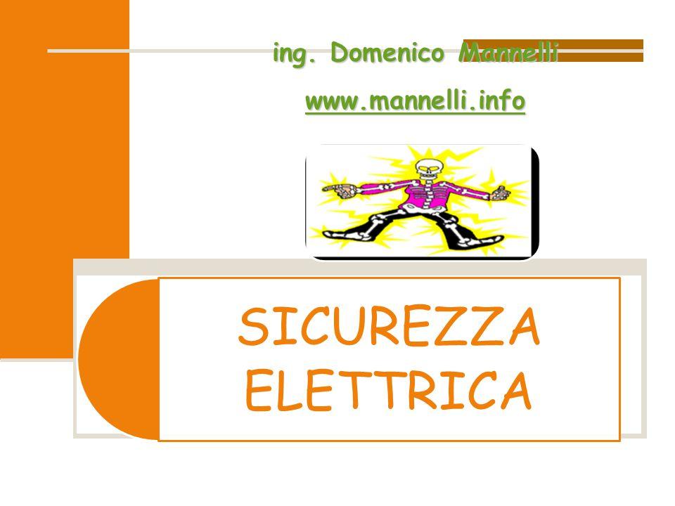 ing. Domenico Mannelli www.mannelli.info SICUREZZA ELETTRICA
