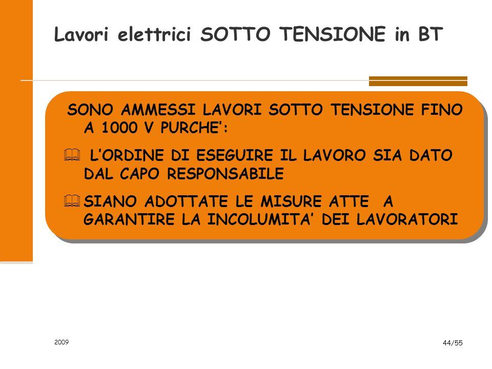 Lavori elettrici SOTTO TENSIONE in BT