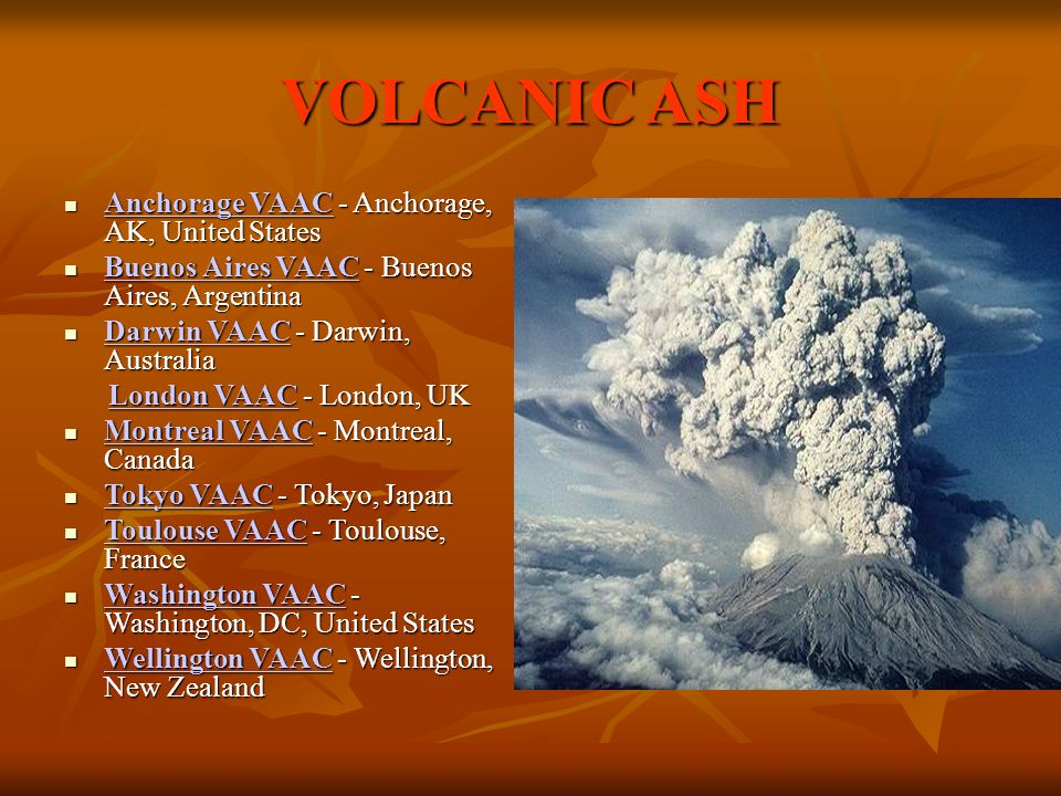 VOLCANIC ASH Anchorage VAAC - Anchorage, AK, United States