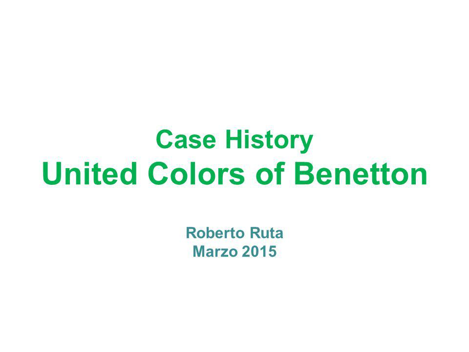 Case History United Colors of Benetton Roberto Ruta Marzo 2015