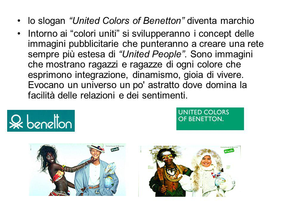 lo slogan United Colors of Benetton diventa marchio