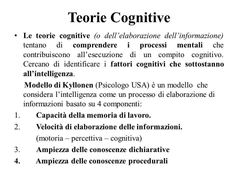 Teorie Cognitive