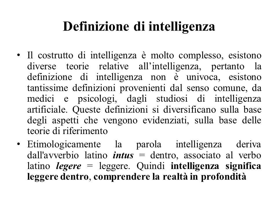 Definizione di intelligenza