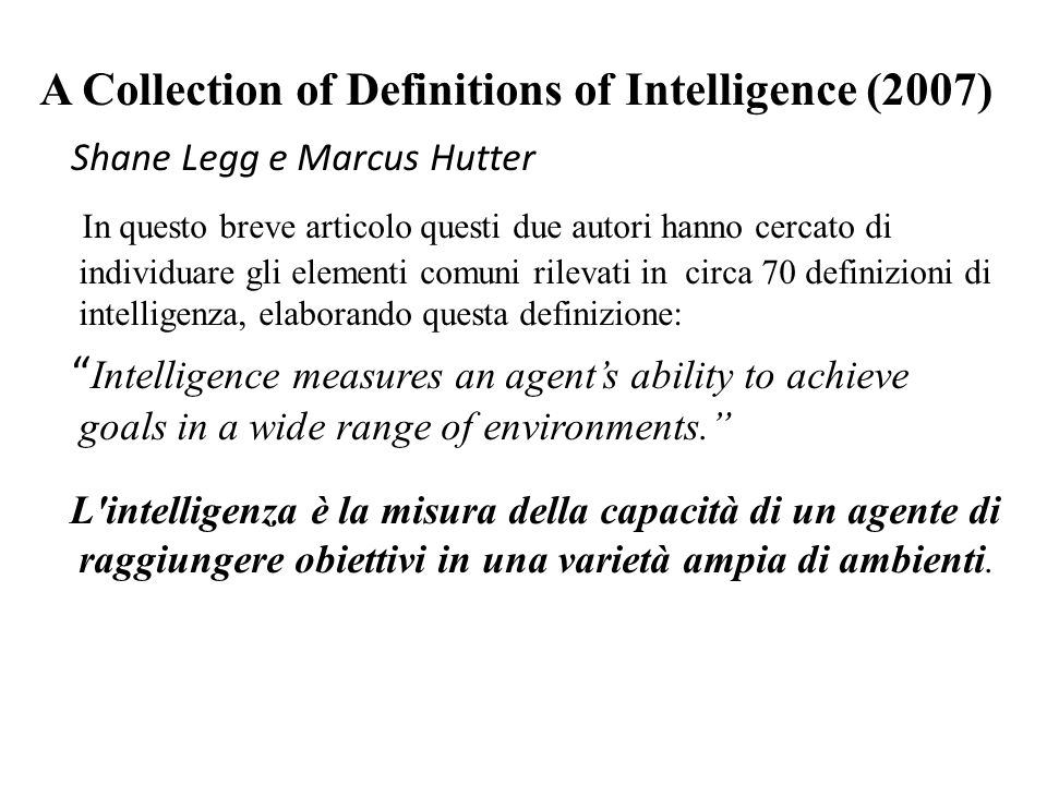 A Collection of Definitions of Intelligence (2007)