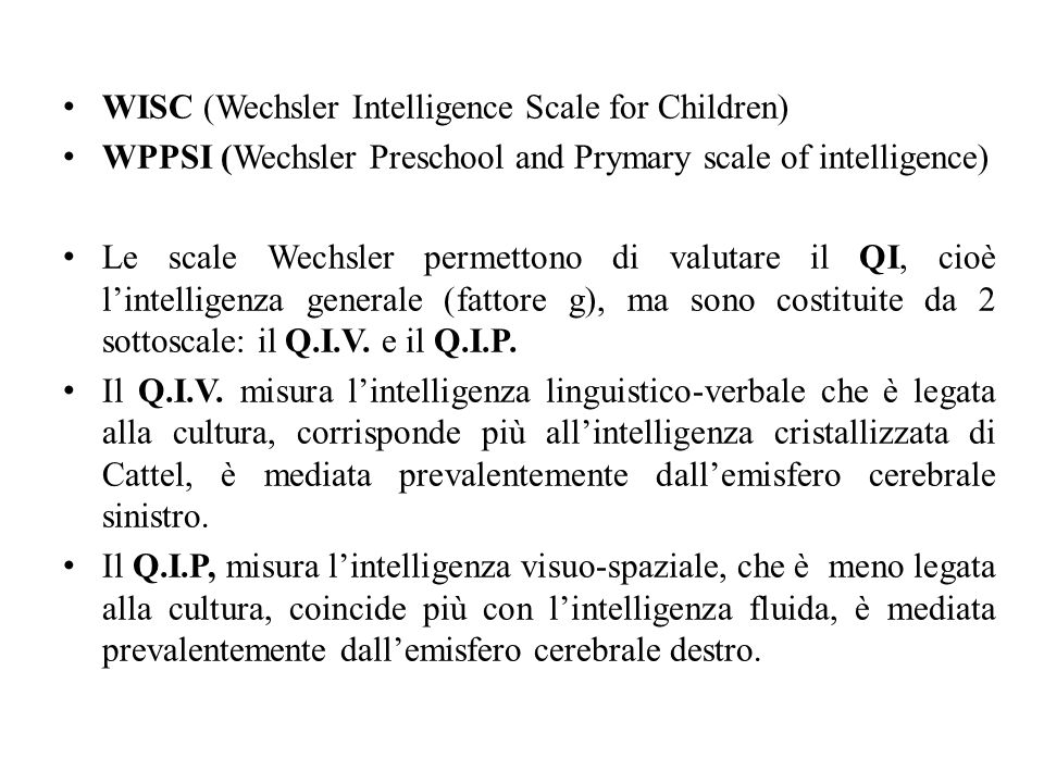 WISC (Wechsler Intelligence Scale for Children)