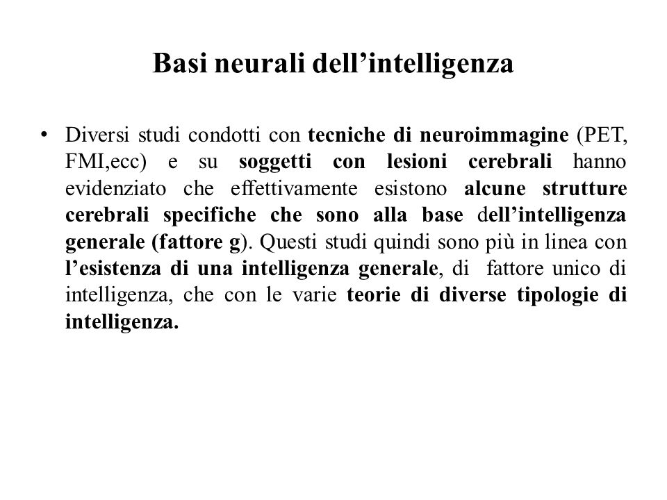 Basi neurali dell'intelligenza