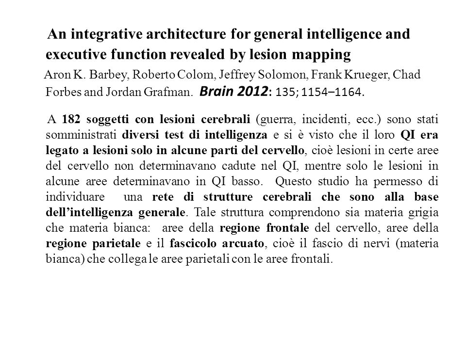 An integrative architecture for general intelligence and executive function revealed by lesion mapping