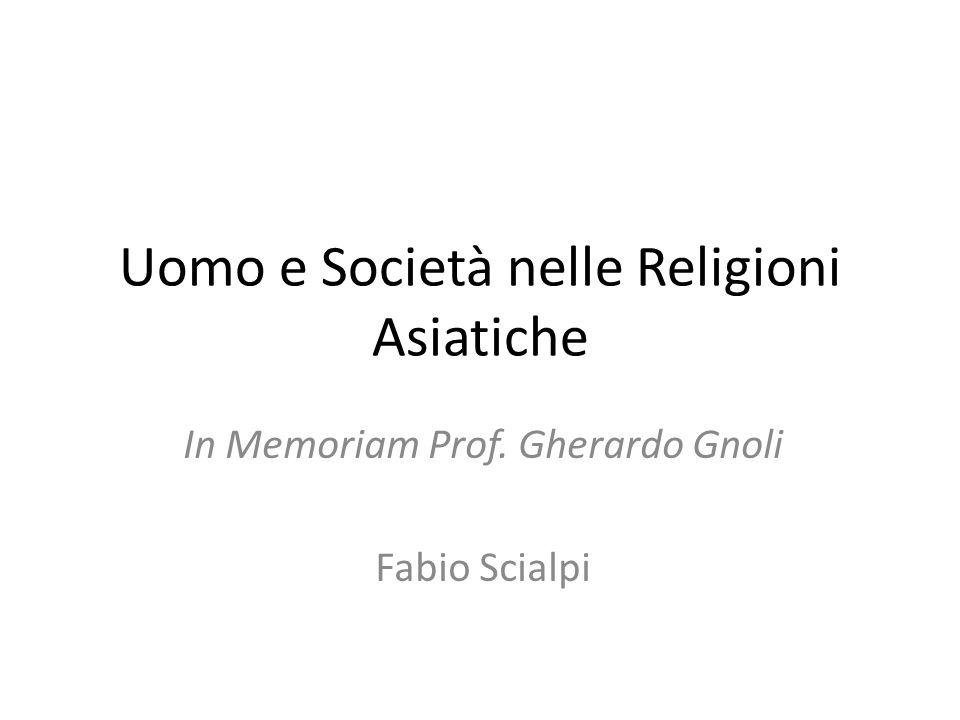 Uomo e Società nelle Religioni Asiatiche