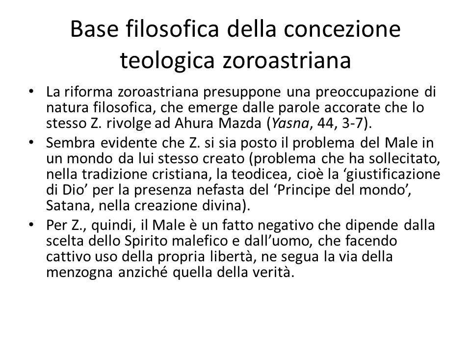 Base filosofica della concezione teologica zoroastriana