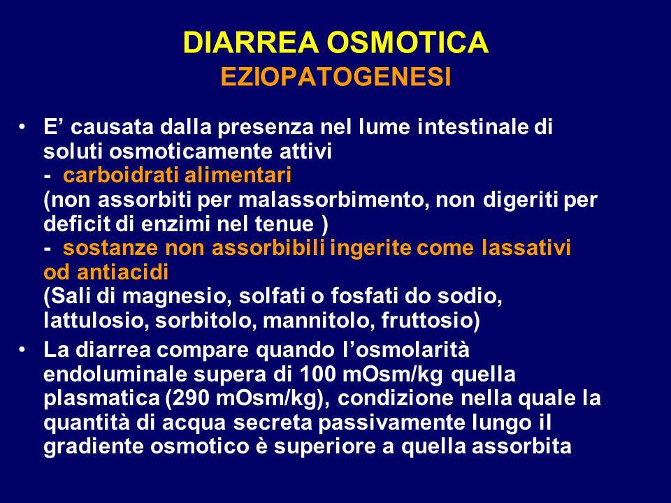 DIARREA OSMOTICA EZIOPATOGENESI