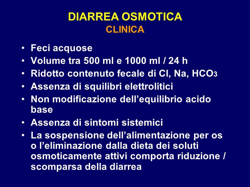 DIARREA OSMOTICA CLINICA