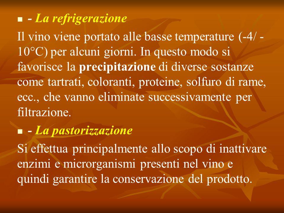 - La refrigerazione