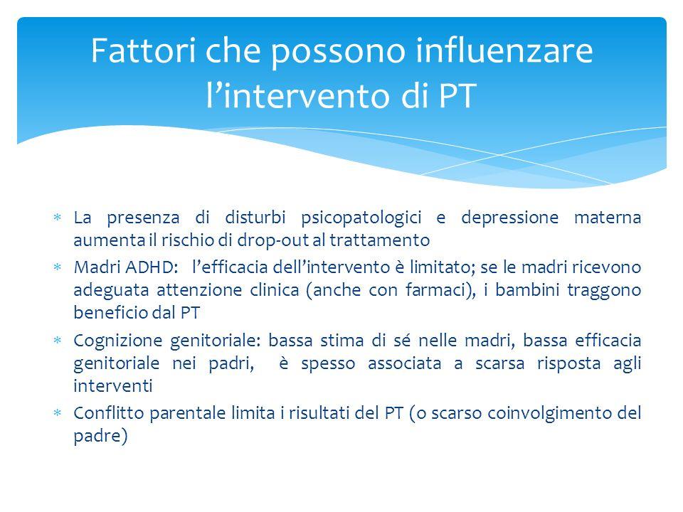 Fattori che possono influenzare l'intervento di PT