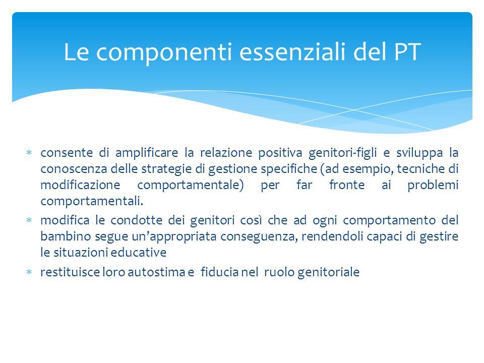 Le componenti essenziali del PT