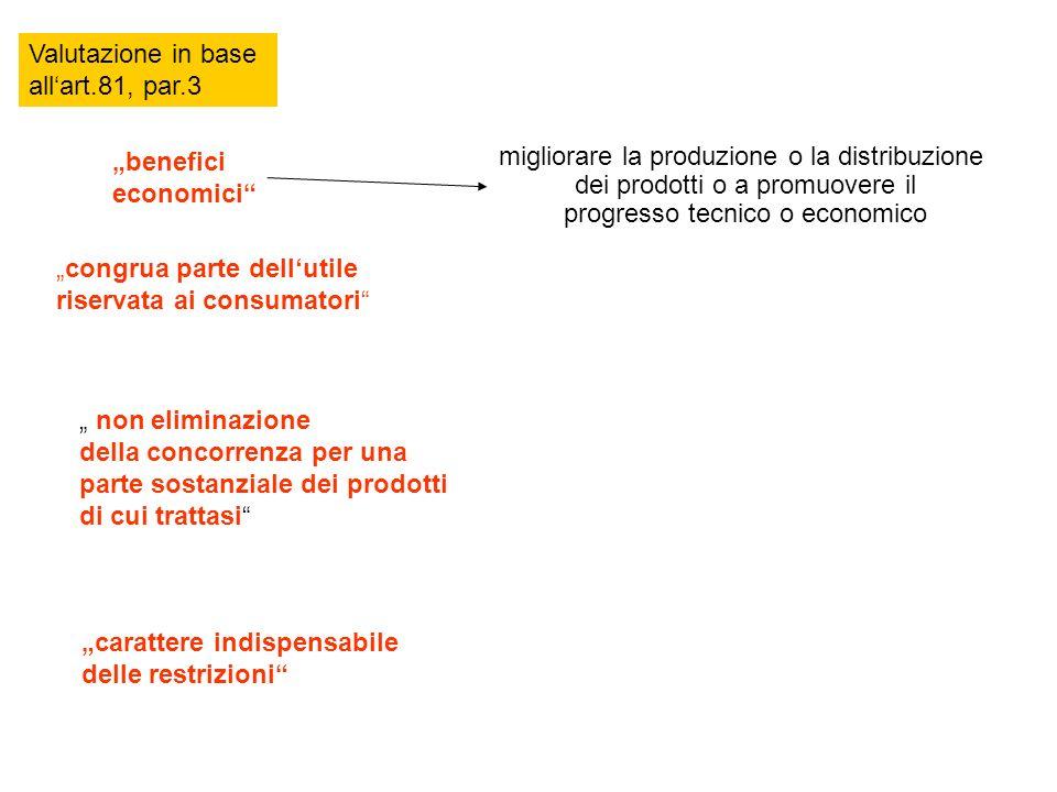 Valutazione in base all'art.81, par.3