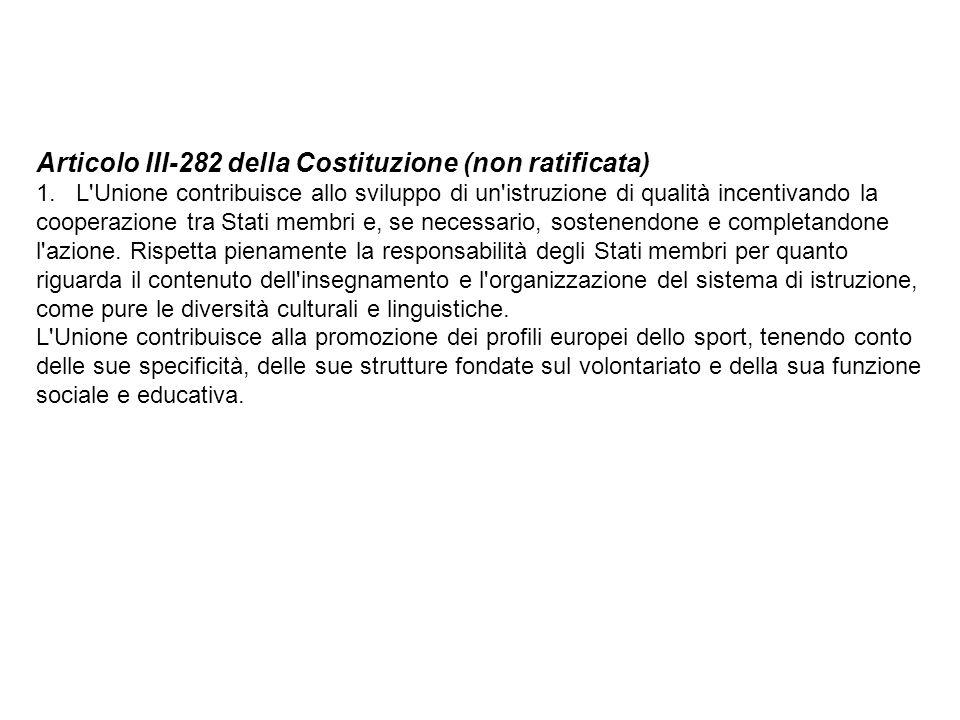 Articolo III-282 della Costituzione (non ratificata)