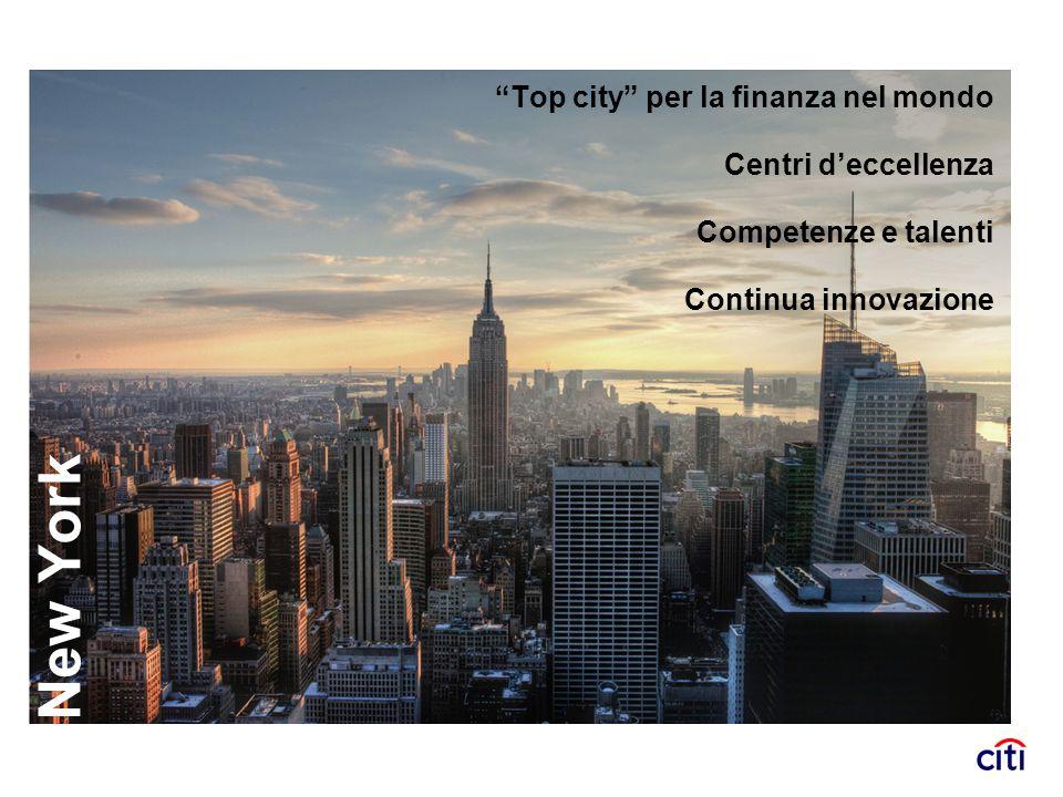 New York Top city per la finanza nel mondo Centri d'eccellenza
